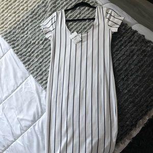 Stripped Midi Dress